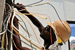 Unalaska AK electrician re-wiring circuit panel